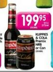Klippies & Cola Premium Nrb Or Can-24x275ml
