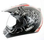 ARC Helmets A-718 Black-Red Off Road Adult Helmet