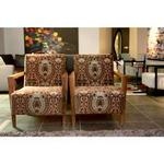 Jo Carlin Furniture Lautrec Armchair In Leather Multicolor