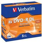 Verbatim DVD-R Dual Layer 8x 5 Pack Jewel Box