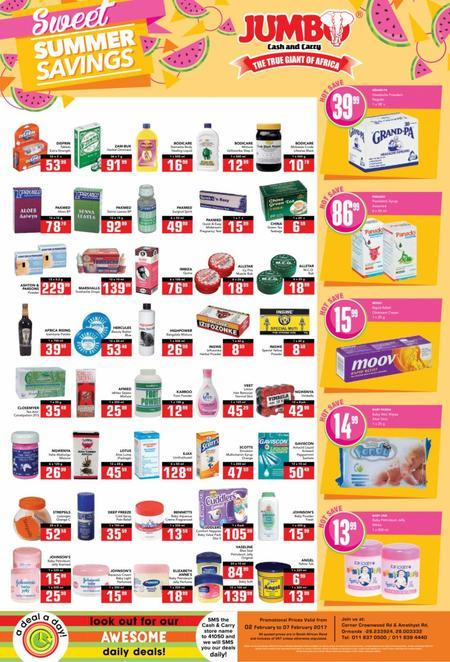 Find Jumbo Cash & Carry Deals Online | Compare Prices & Save