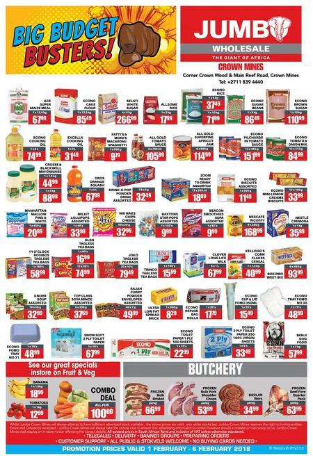 Shop Jumbo Cash & Carry Online | Shop Deals & Compare Prices