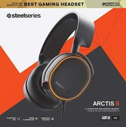 SteelSeries Gaming Headset - Arctis 5 - 2019 Edition - Black Pc gaming