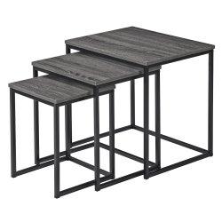 No Brand - Verona Set 3 Nesting Table Dark Grey