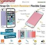 Promate Grosso-i5 Striped Flexi-Grip Snap Case for iPhone 5 5S in Pink