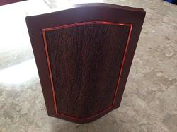 Iq America Designer Series Wired wireless Door Chime With Mahogany And Oil-rubbed Bronze Cover