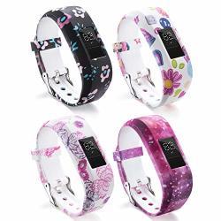Vozehui Watch Bands Compatible With Garmin Vivofit 3 VIVOFIT Jr vivofit Jr 2 Adjustable Soft Silicone Replacement Sport Wristbands For Kids Boys Girls Men Women Small Large