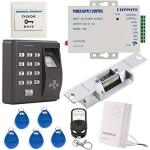 Uhppote Fingerprint Rfid Em-id Card Access Control System Kit With No Strike Loc
