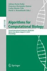 Algorithms For Computational Biology - Second International Conference Alcob 2015 Mexico City Mexico August 4-5 2015 Proceedings
