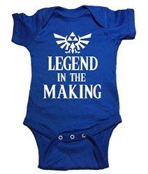 """Zelda One Piece """"legend In The Making"""" Bodysuit 0M-NEWBORN Blue"""
