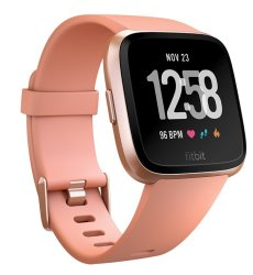 Fitbit Versa Smartwatch in Peach Rose Gold