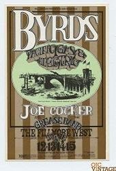 Bill Graham Postcard 177 Ad Back The Byrds Joe Cocker 1969 Jun 12