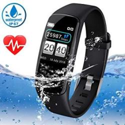 """Fitness Tracker For Women Men With Hear Rate Blood Pressure Monitor 0.96"""" Color Screen Activity Tracker Watch Waterproof Smart Band With Blood Oxygen"""