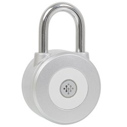 Ivation Smart Bluetooth Wireless Electronic Padlock Metal 3 And A Inch Works W ios & Android Phones Sheds Safety Deposit Boxes Lockers & More The
