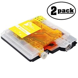 UpStart Components 2-PACK Replacement Brother MFC-490CW Printer Yellow Ink Cartridge - Compatible Brother LC61Y Yellow Ink Tank