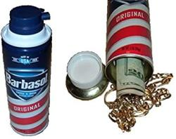 USA Original Barbasol Shaving Cream Diversion Can Safe Stash Hide Cash Box Jewelry Metal Bank