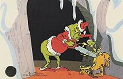 """Chuck Jones Classic """"how The Grinch Stole Christmas"""" The Grinch Ltd Print Matted"""
