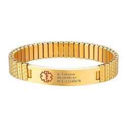 Prosteel Free Engraving - Custom Medical Alert Id Bracelet necklace Emergency Contact Stainless Steel Jewelry For Men women