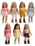 Sweet Dolly 18 Inches Doll Clothes 7 Outfits Mixed Matching For American Girl Doll Our Generation Doll Journey Girl Doll