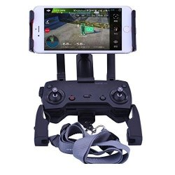 DJI Mavic Air Pro Spark Accessories Qubuy Adjustable Remote Controller Mount Holder 4-12 Inch Phone Tablet Extended Mount Holder