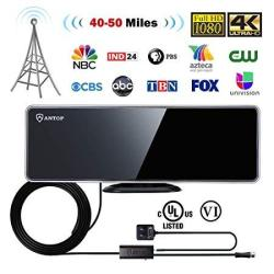 Antop Indoor Tv Antenna Build-in 4G LTE Filter With Smartpass Amplifier  Booster 50 Miles Range 4K HD Vhf Uhf Freeview Television | R1277 00 |