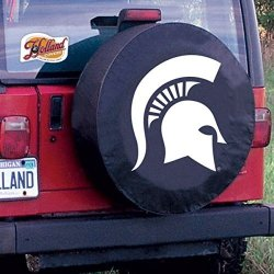 Holland Bar Stools Holland Bar Stool TCIMICHSTBK-28 X 8 Michigan State Tire Cover-black
