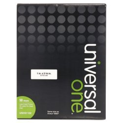 Universal Office Products Laser Printer Permanent Labels 1 X 2-5 8 Clear 1500 BOX Sold As 2 Box 1500 Each Per Box