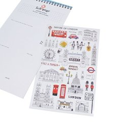 She-Buy Days In London Stickers Transparent Diary Scrapbooking Labels Decorative Tags 1 Sheet