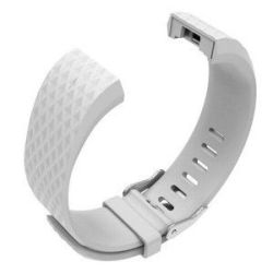 Ladies Silicone Strap For Fitbit Charge 2 S m - White