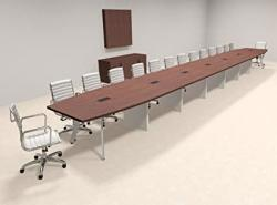 Modern Boat Shaped 30' Feet Conference Table OF-CON-CV81