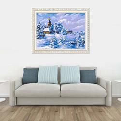 Yanqxizbiu Diy 5D Diamond Painting Full Diamond Painting Winter Snow Scenery Cross Stitch Embroidery V008