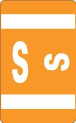 Smead Alpha-z Acc Color-coded Alphabetic Label Letter S Orange 250 Labels Per Roll 67119 Style: Letter S Office Supply Product