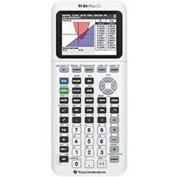 TI-84 Plus Ce Color Graphing Calculator White
