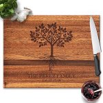 Froolu Tree With Roots Handmade Wooden Cutting Boards For Best Friends & Colleagues Christmas Gifts