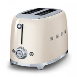 Smeg 50S Retro Style 2 Slice Toaster in Cream