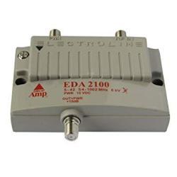 Electroline EDA-2100 1-PORT Cable Tv Hdtv Signal Booster amplifier