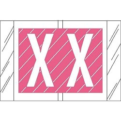"Col' R' Tab Compatible ""x"" Labels Laminated Stock 1"" X 1-1 2"" Individual Letters - Roll Of 500"