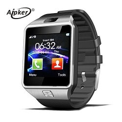 Aipker Bluetooth Smartwatch Phone With Sim Tf Card Slot Camera For Samsung LG Sony All Android Smart