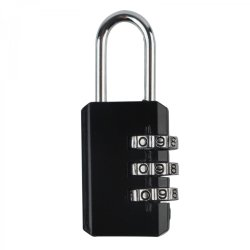 TRAVEL 3 Digit Black Padlock