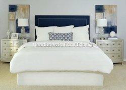 Stud Trim Headboard - Single Cream Upholstery Linen