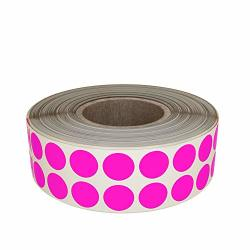 Royal Green Round Circle 5 8 Dot Stickers In Roll Neon Colored Inventory Labels 17MM In Fluorescent Pink - 1220 Pack