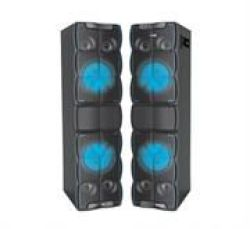 Audionic Dj 200 Stereo Party Speaker System With BLUETOOTH-2.0 Channel Stereo Output Power: 80W X 2 Bluetooth Range Up To 10 Met