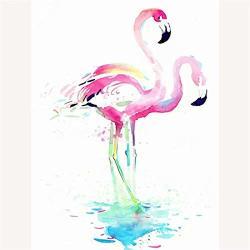 5D Diy Diamond Painting Full Diamond Rhinestone Painting Home Decor Gift 15.7X23.6INCH Animal Flamingo