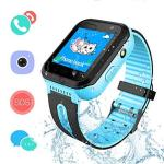 Szbxd Kids Waterproof Smartwatch Gps lbs Tracker - Boys & Girls IP67 Waterproof Smart Watch Phone Sos Camera Anti-lost Games Bac