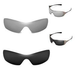 f8f57a2d73 Walleva, LLC New Walleva Polarized Titanium+black Replacement Lenses For  Oakley Dart Sunglasses