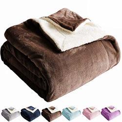 Shilucheng Sherpa Fleece Blanket Twin Size Brown Plush Throw Blanket Super Fuzzy Soft & Warm Couch Blankets Microfiber All Seasons Winter Twin Brown