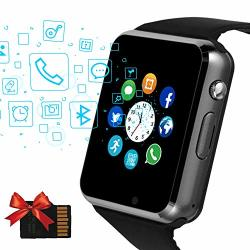 Janker Smart Watch Bluetooth Smartwatch Unlocked Watch Phone With Sim Card Slot Camera Pedometer Touch Screen Music Player Wrist Watch Android Ios Phone Compatible