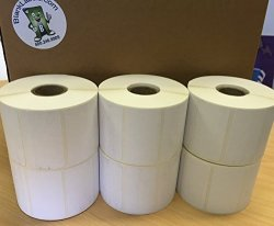 "2.25 X 1.25 Thermal Labels Direct. Blank Labels Brand. Zebra Eltron LP2844 Zp Compatible. 1"" Core. 1 000 Labels Per Roll 8 Rolls"