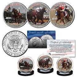 Justify Triple Crown Winner Race Horse 2018 Kennedy Half Dollar 3-COIN U.s. Set