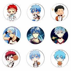 Mococi Brooches - 6PCS SET Anime Kuroko No Basket Badge Kuroko Tetsuya Kagami Taiga Kise Ryota Pins Collection Bags Cosplay Brooch For Backpacks - Metal